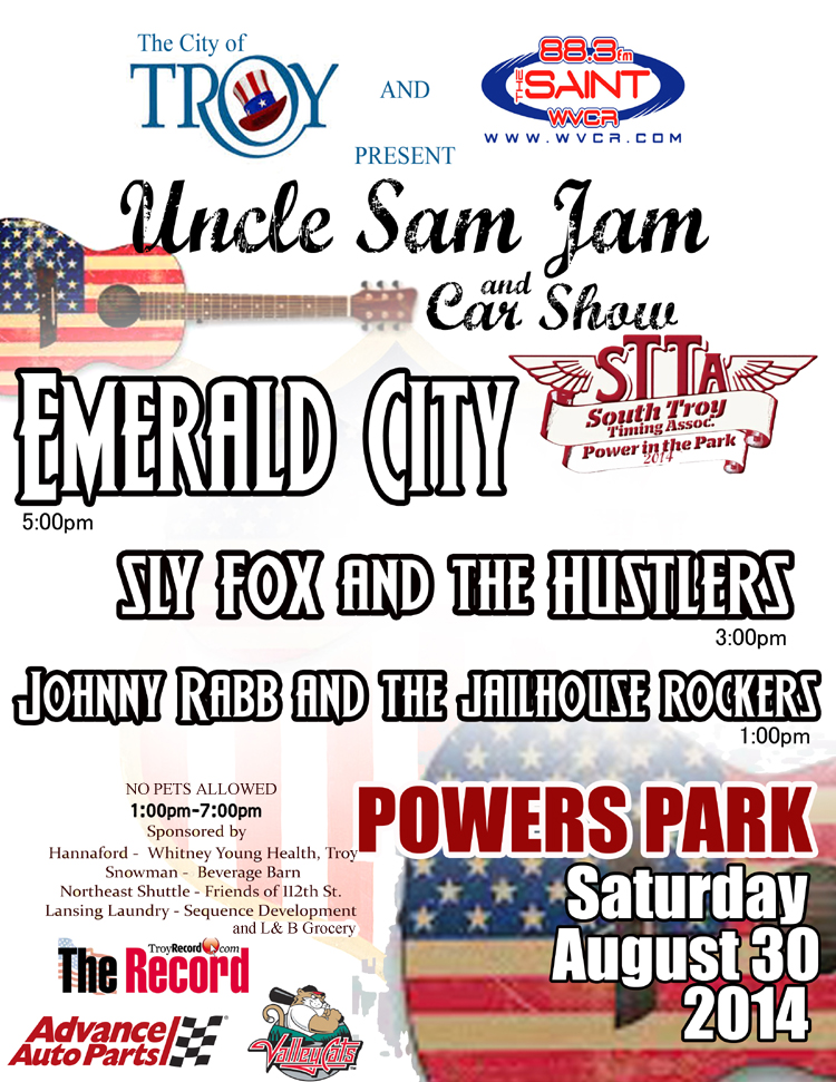 Join WVCR-FM for The Uncle Sam Jam 2014!